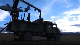 Female soliders training on plateau area