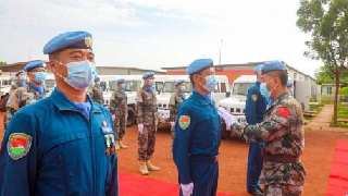 2nd Chinese peacekeeping helicopter contingent to Abyei sets out